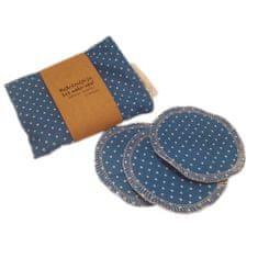Pratelné odličovací tampóny Green Smile (7 ks) - modré s bílými puntíky