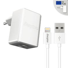 Energizer Nabíječka do sítě 2x USB 3,4A s ligthning kabelem bílá (ACA2CEUULI3)