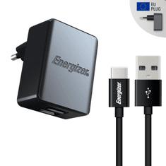 Energizer Nabíječka do sítě 2x USB 3,4A s USB-C kabelem černý (ACA2CEUUC23)