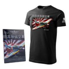 ANTONIO Tričko s letadlem z druhé světové války MITSHUBISHI A6M ZERO