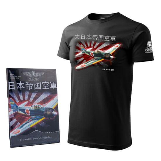 ANTONIO Tričko s letadlem z druhé světové války MITSHUBISHI A6M ZERO - M