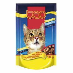Dibaq TEO vrecúško mačka hydinové 24x100 g