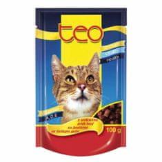 Dibaq TEO vrecúško mačka hovädzie 24x100 g