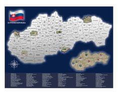Stírací mapa Slovenská republika
