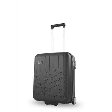 Travel and More potovalni kovček, 56 x 37 x 21 cm, črn