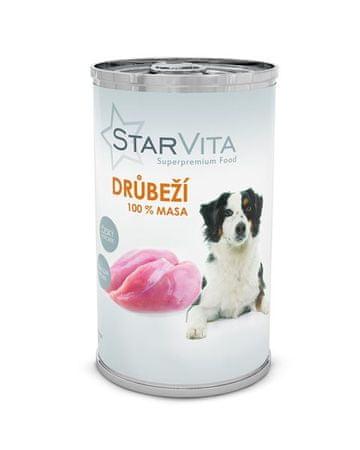 Starvita konzervirana hrana za pse, mleta perutnina, 1200 g