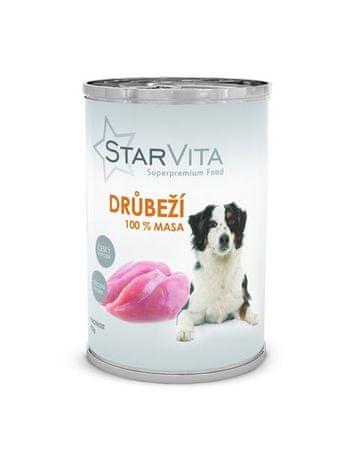 Starvita konzervirana hrana za pse, mleta perutnina, 400 g
