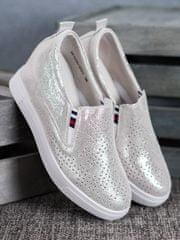 Filippo Kožená obuv na klínku