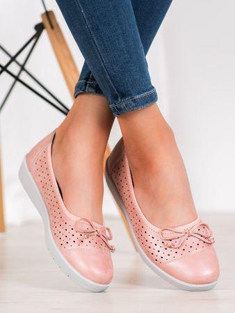 Női balerina cipő 64225, rózsaszín árnyalat, 36