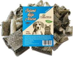 NATURECA Sušená koža z lososa kúsky 5 cm, 100 g