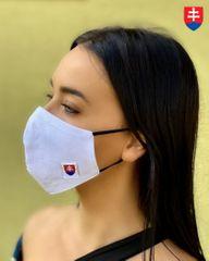 TERMOVEL Dvojvrstvové bavlnené zdravotné rúško s gumičkou - Slovenský znak
