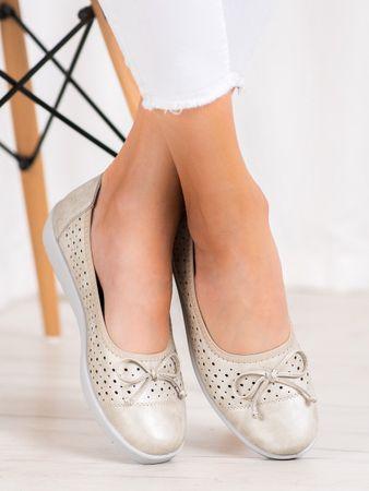 Női balerina cipő 64248, sárga és arany árnyalat, 37