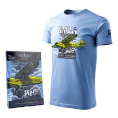 ANTONIO Tričko s letadlem pilotní školy PIPER J-3 CUB