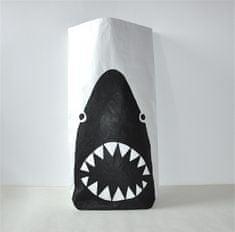 Designový papírový pytel - taška, velká, Žralok