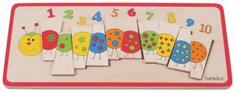Beleduc Vkládací puzzle Počítací housenka