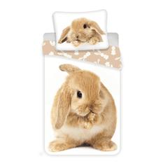 Jerry Fabrics Povlečení Hnědý králíček