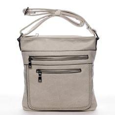 Romina & Co. Bags Moderní dámská crossbody kabelka La vida, béžová