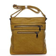 Romina & Co. Bags Moderní dámská crossbody kabelka La vida, žlutá