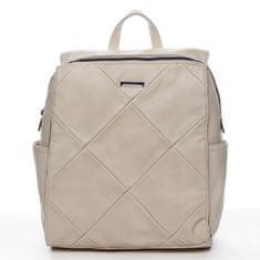 Silvia Rosa Moderný mestský koženkový batoh Future, béžový