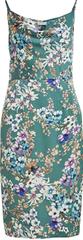 VILA Ženska obleka VISITRA STRAP DRESS / DC Cameo Green FLOWER