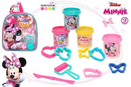 Disney plastelin Minnie set, nahrbtnik + modelčki, 4 x 56 g