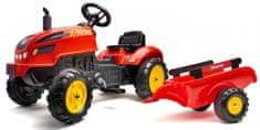 Falk traktor z pedałami Xtractor czerwony