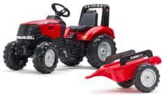 Falk traktor z pedałami i przyczepą Case IH