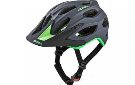 Alpina Sports biciklistička kaciga Carapax charcoal-green, 57-62