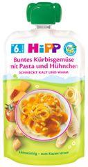 HiPP BIO Zelenina s dýní, těstoviny a kuřecí maso od uk. 5. měsíce,6 x 130 g