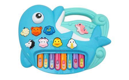 Unikatti piano, otroški, v obliki delfina, na baterije