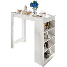 TEMPO KONDELA Barový stôl, biela, AUSTEN