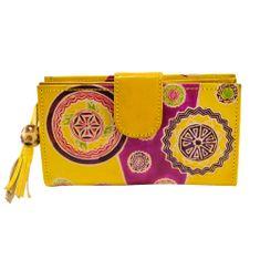 Home Elements Dámska kožená peňaženka, žltá