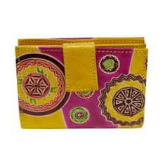 Home Elements Stredná dámska kožená peňaženka, Žltá