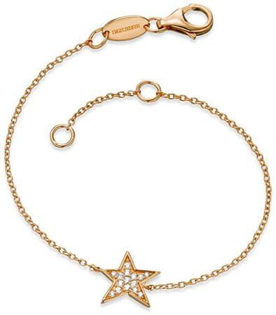 Engelsrufer Pozlačena srebrna zapestnica Star z cirkoni ERB-LILSTAR-ZIG srebro 925/1000