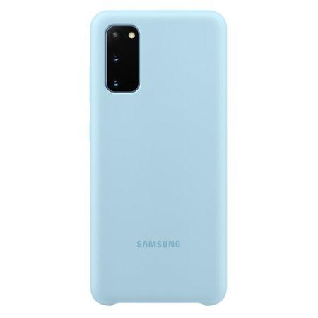 Samsung ovitek za Samsung Galaxy S20, silikonski, svetlo moder (EF-PG980TLE)