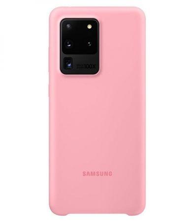Samsung ovitek za Samsung Galaxy S20 Ultra, silikonski, roza (EF-PG988TPE)