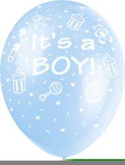 Latexové balóniky - It 'a boy - chlapec - 5 ks - 30 cm