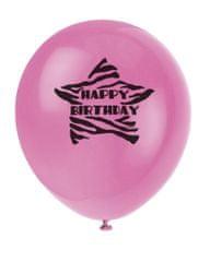 Latexové balóniky - HAPPY BIRTHDAY - 8 ks - 30 cm
