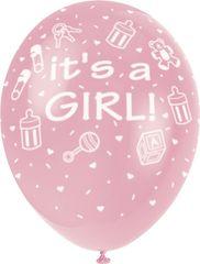 Latexové balóniky - It 'a girl - dievča - 5 ks - 30 cm