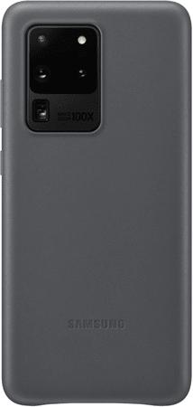 Samsung maska za Samsung Galaxy S20 Ultra, kožna, siva (EF-VG988LJE)