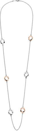 Calvin Klein Dolga dvobarvna ogrlica iz jekla Beauty KJ4NPN200200