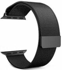 Tactical 333 Loop magnetický kovový řemínek pro iWatch 1 / 2 / 3 38 mm 2445282, černý