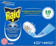 Raid električni aparat in piastrine tablete, 10 kos