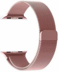 Tactical 337 Loop magnetický kovový řemínek pro iWatch 1 / 2 / 3 38 mm 2445277, růžový