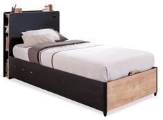Čilek Studentská postel s úložným prostorem BLACK včetně matrace 100x200 cm