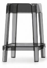Pedrali Nízká barová židle RUBIK 582 DS - transparentní kouřová - set 2ks