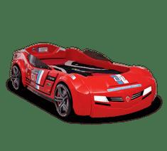 Čilek Dětská postel auto BiTurbo červená včetně matrace 90x195 cm
