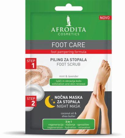 Kozmetika Afrodita Foot Care piling (5 ml) + noćna maska (4 ml), za stopala
