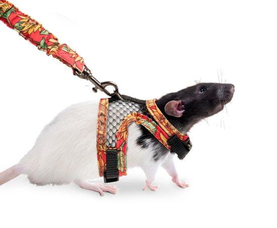 Karlie postroj s vodítkom pre potkany S