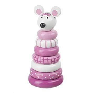 Orange Tree Toys Moje první kroužková myš / Pink Mouse Stacking Ring